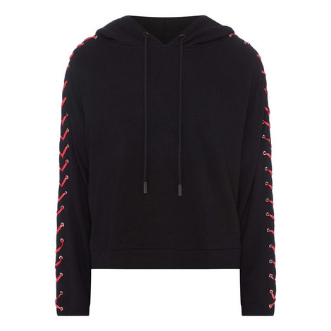 Leather Laced Hoodie, ${color}