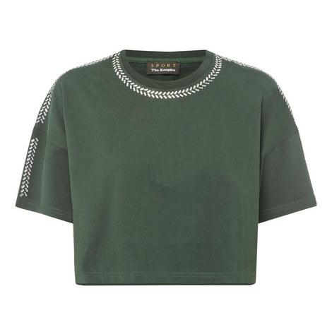 Rhinestone Trim T-Shirt, ${color}
