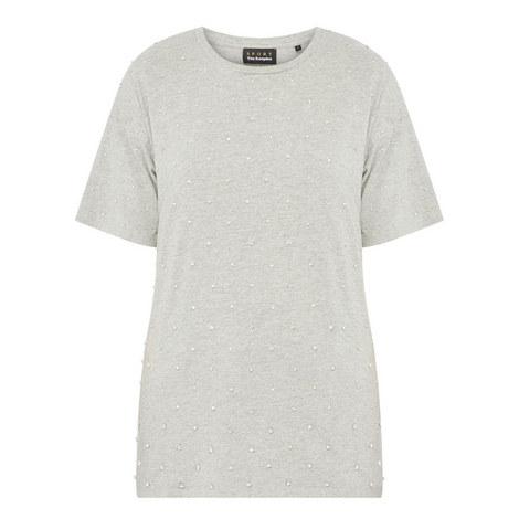 Diamanté-Embellished T-Shirt, ${color}