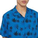 Faded Botanical Print Shirt, ${color}
