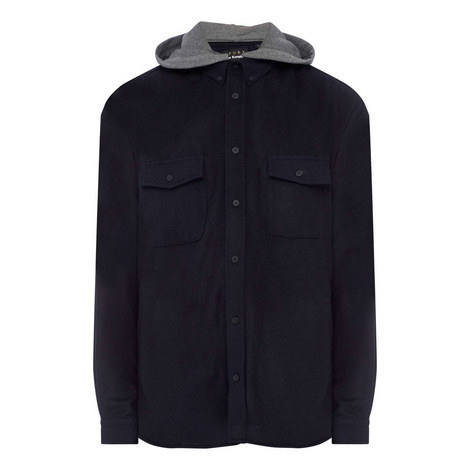 Contrasting Hood Wool Rich Shirt, ${color}