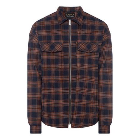 Check Zip Shirt, ${color}