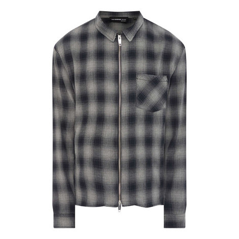 Long Sleeved Checked Shirt, ${color}