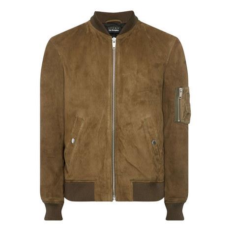 Zip Sleeve Bomber Jacket, ${color}