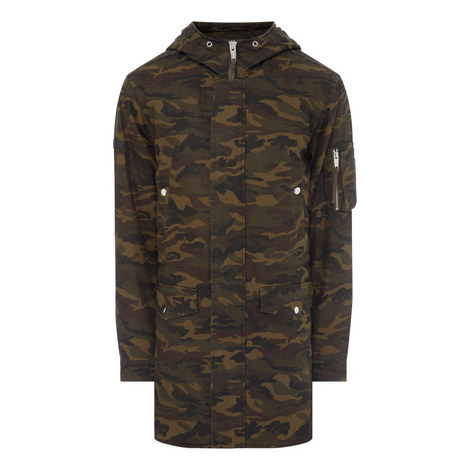 Camouflage Parka Coat, ${color}