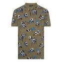 Floral Print Piqué Polo Shirt, ${color}