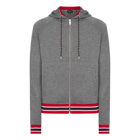 Tricolour Ribbed Hoodie, ${color}