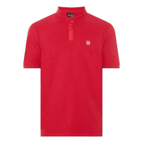 Collarless Polo Shirt, ${color}