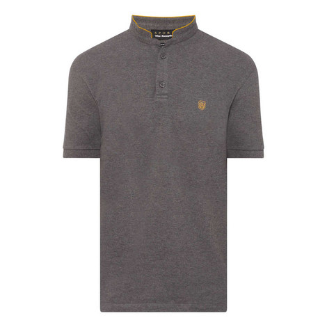 Collarless Polo Shirt, ${color}