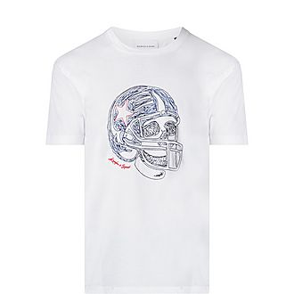 Skull Embroidered T-Shirt