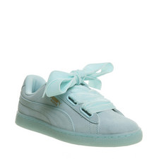 Suede Heart Lace Trainers