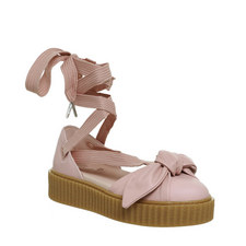 Lace-Up Ballet Bow Creepers