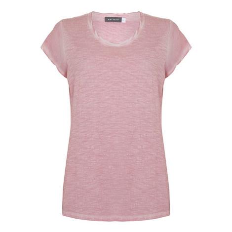 Woven Trim T-Shirt, ${color}