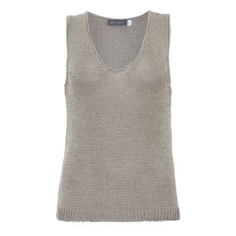 Open Stitch Sleeveless Top, ${color}