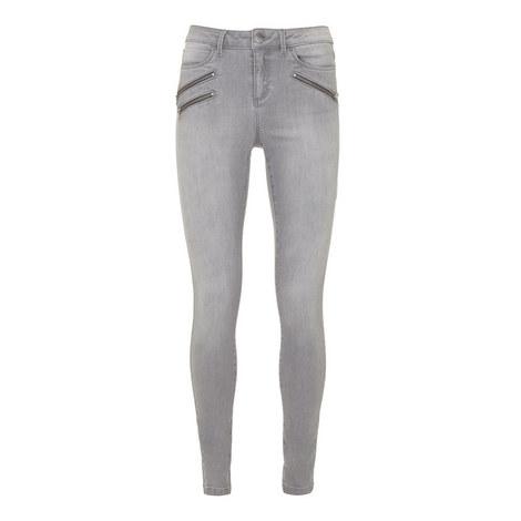 Lakewood Treble Zip Skinny Jeans, ${color}