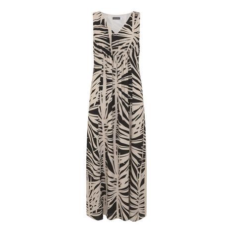Talia Leafy Print Maxi Dress, ${color}