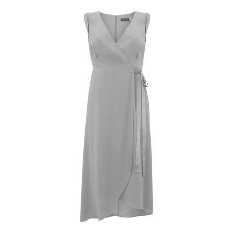 Empire Waist Wrap Dress, ${color}
