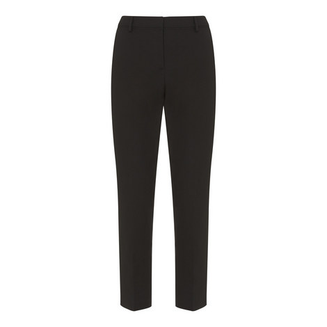 Cropped Stretch Trousers, ${color}