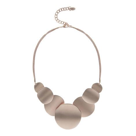 Brushed Disc Necklace, ${color}