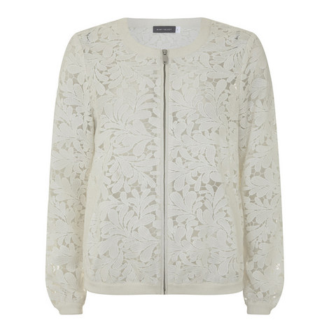 Mesh Lace Bomber Jacket, ${color}