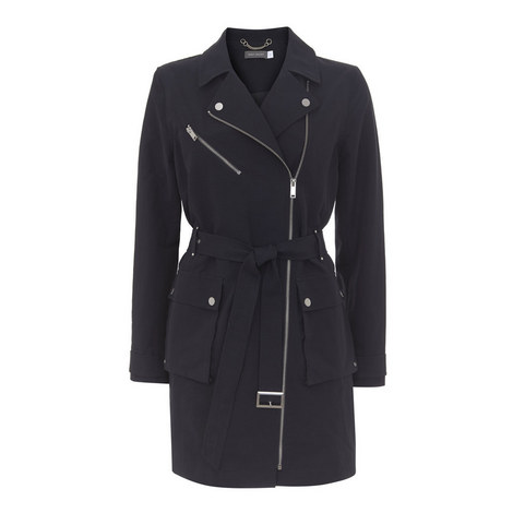 Short Zipped Trench Coat, ${color}