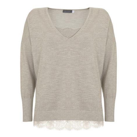 V-Neck Camisole Knit, ${color}
