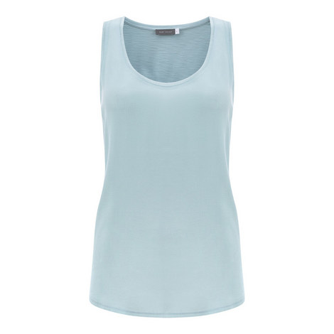 Woven Trim Tank Top, ${color}