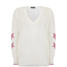Intarsia Star Print Sweater