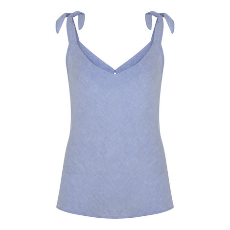Chambray Shoulder Tie Camisole, ${color}