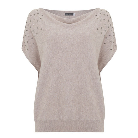 Studded Cowl Neck Top, ${color}
