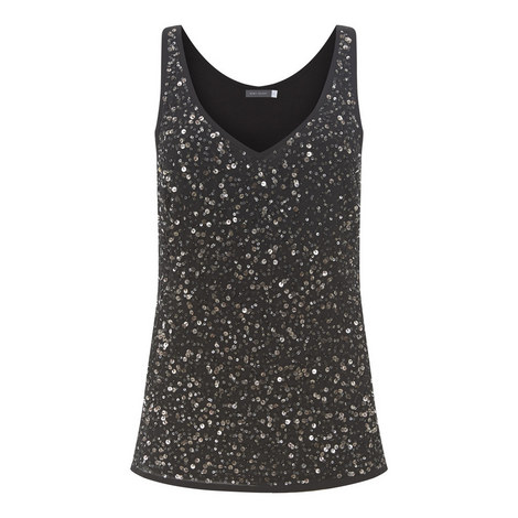 Sequin Front Vest, ${color}