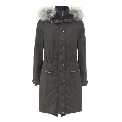 Waxed Double Front Parka, ${color}