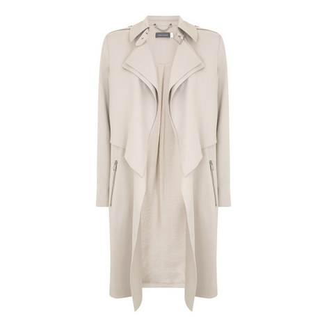 Waterfall Drape Trench Coat, ${color}