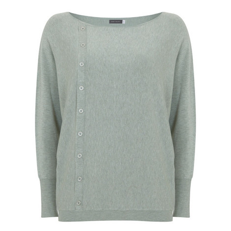 Lichen Asymmetric Button Knit, ${color}