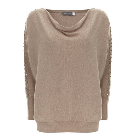Stud Sleeve Batwing Knit, ${color}
