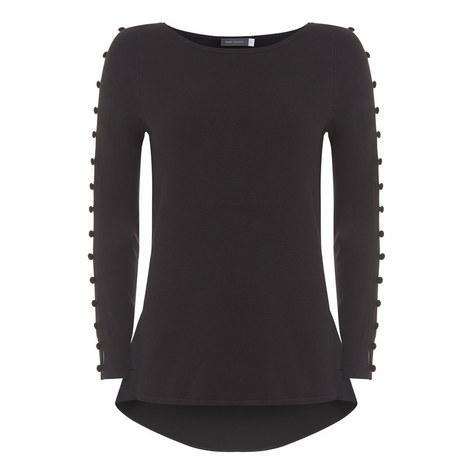 Layered Velvet Button Knit, ${color}