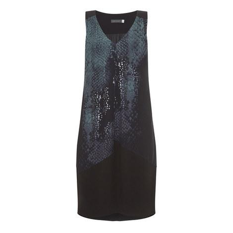Roxan Blocked Cocoon Dress, ${color}