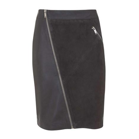 Smoke Leather Pencil Skirt, ${color}