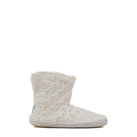 Cable Knit Slipper Boots, ${color}
