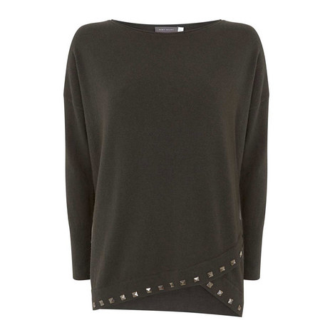 Wrapover Studded Knit, ${color}