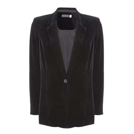 Black Velvet Blazer, ${color}
