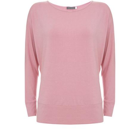 Zip Batwing Sleeve Sweater, ${color}