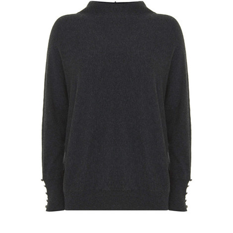 Button Cuff Batwing Sweater, ${color}