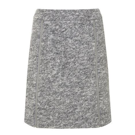 Textured Zip A-Line Skirt, ${color}