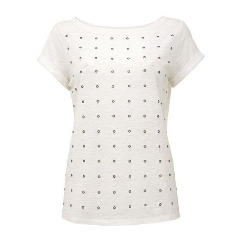Eyelet T-Shirt, ${color}