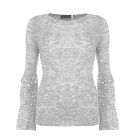 Sequin Sleeve Sweater, ${color}