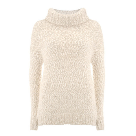 Textured Roll Neck Knit, ${color}