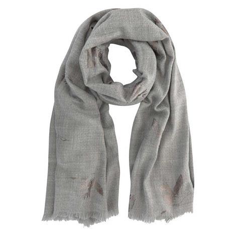 Grey Foiled Bird Blanket Scarf, ${color}