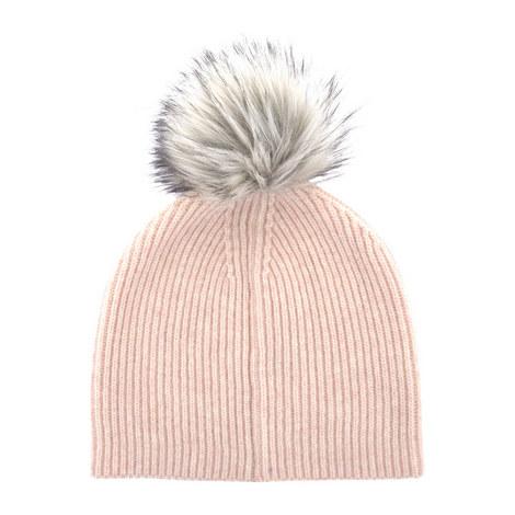Fluffy Yarn Pom Pom Hat, ${color}