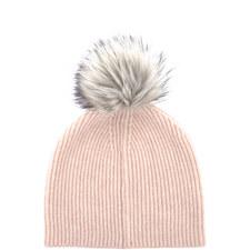 Fluffy Yarn Pom Pom Hat